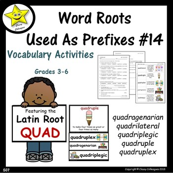 Word Roots Used as Prefixes #14 Latin Root QUAD