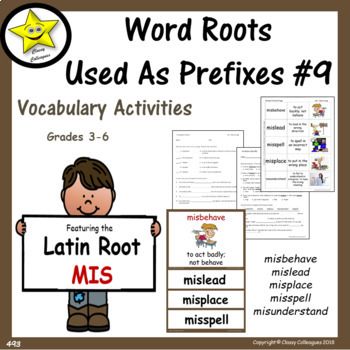 Word Roots Used as Prefixes #9 Latin Root MIS