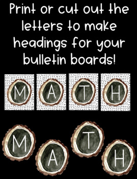 Wood Round Letters! Use for Bulletin Boards and Word Walls!