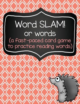 Word SLAM: A Fast-Paced Reading Game (or words)