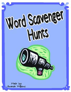 Word Scavenger Hunt Homework and/or Center Idea *FREEBIE*