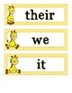 Parts of Speech - Giraffe - Word Scavenger Hunt
