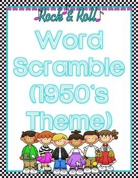 Word Scramble (1950's Theme)