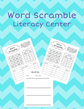 Word Scramble Literacy Center
