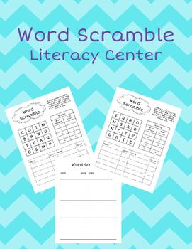 Word Scramble Literacy Center