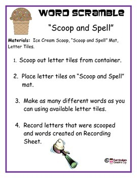 Word Scramble Activity for Daily 5