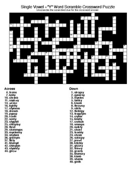 Word Scramble Crossword Puzzle & Word Search  with KEYS