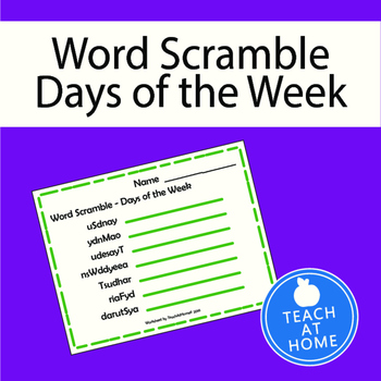 Word Scramble - Days of the Week
