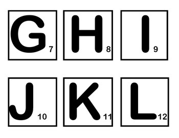 Word Scramble Game Pieces in Black and White