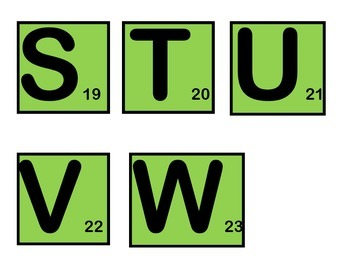 Word Scramble Game Pieces in color