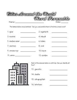 Brain Puzzles: Word Scramble