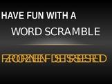Word Scramble Starter