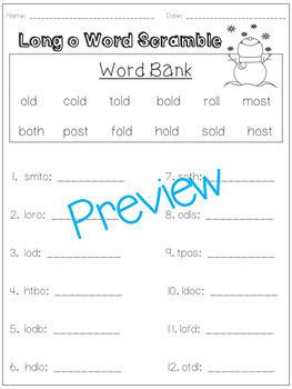 Word Scramble Templates Pack!