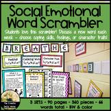 Word Scrambler Bulletin Board Set: Coping, Feelings, Character Traits
