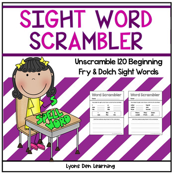 Word Scrambler - Sight Word Activity