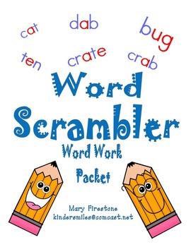 Word Scrambler Word Work Packet