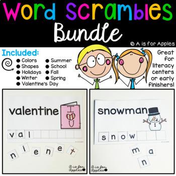 Word Scrambles Bundle