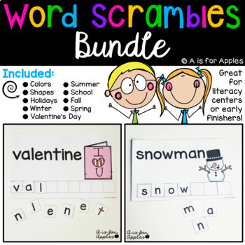 Word Scrambles Bundle