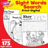 Sight Words Word Search Worksheet Pack Print | Digital