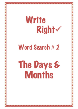 Write Right Word Search 2