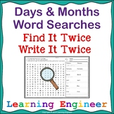 1st Grade Word Work:  Days of the Week, Months of the Year