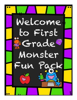 Welcome To First Grade Monster Fun Pack