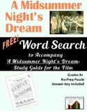 Word Search: A MIDSUMMER NIGHT'S DREAM 1999 Film Guide: FREE