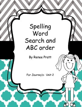 Journey's Second Grade Unit 2 Word Search & ABC Order