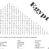 Word Search Ancient Egypt