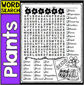 Word Searches: Early Finishers Activities: No Prep Worksheets: 4th & 5th Grades
