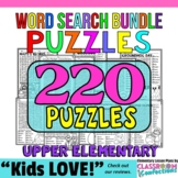 Word Searches: Early Finishers Activities: 4th & 5th Grades: BUNDLE