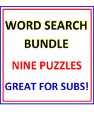 Word Search BUNDLE (NINE PUZZLES)