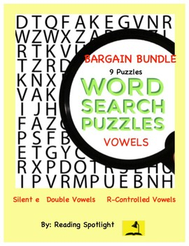Vowel Word Search Bargain Bundle (Distance Learning)