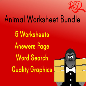 Animal Word Search Bundle