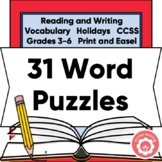 Word Search Bundle: ELA, Seasons, And Holidays CCSS Grades 4-6