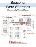 Word Search Bundle: Seasonal lists