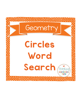 Word Search Circles Geometry