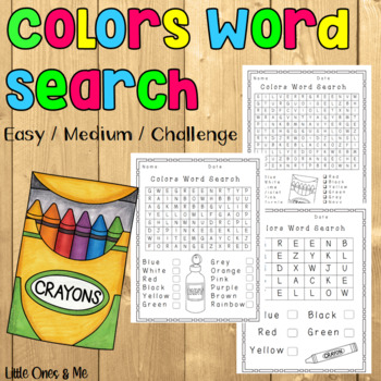 Word Search Colors