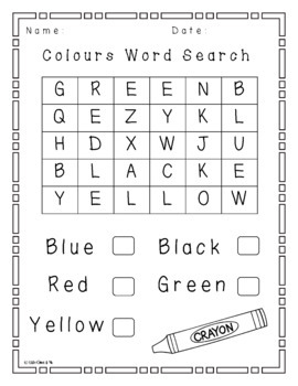 Word Search Colours
