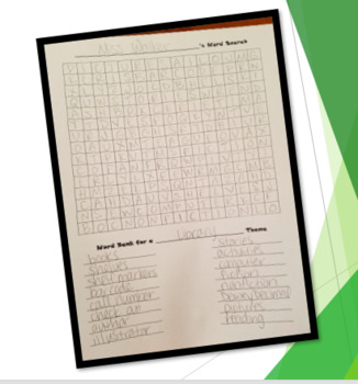 Word Search Creation - Blank Word Search Template & Directions ppt