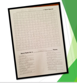 Word Search Creation - Blank Word Search Template & Direct