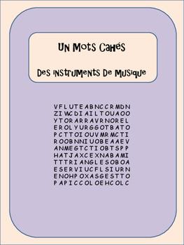 Word Search - Des Instruments de Musique - En Français