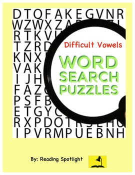 Word Search: Difficult Vowels