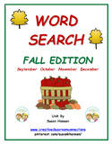 Word Search:  Fall Edition