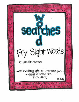 Word Search:  Fry Sight Words