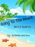 Word Search -- Going to the Beach