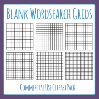 Word Search Grids / Blank Wordsearch Template Grids For Commercial Use
