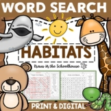 Word Search Habitats