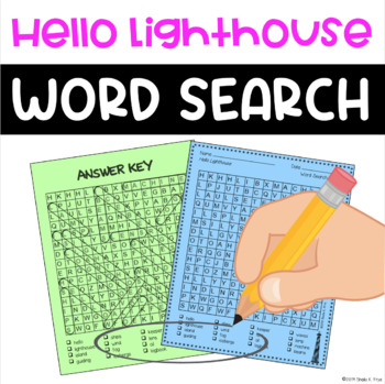 Word Search - Hello Lighthouse by Sophie Blackall - Fun Post-Reading Activity!