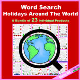 Word Search: Holidays Around The World Bundle